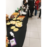 buffet em evento corporativo Santa Isabel