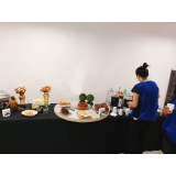 buffet evento corporativo valor Santa Isabel